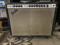 Vintage 1970s Fender Twin Reverb Silverface Electric Guitar Tube Amp - Gc