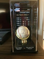 1983 World Series Champs Baltimore Orioles Rawlings Baseball With Multi Ins.