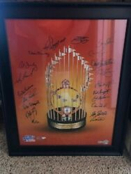 1983 World Series Trophy Photo 16 X 20 W/ Multi Ins.from Champs Baltimore O's