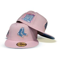 Exclusive Fitted Pink Boston Redsox 1999 All Star Game Patch Blue Bottom 7 3/8