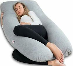 Angqi U Shaped Pregnancy Pillow With Jersey Cover U Shaped Full Body Pillow