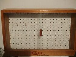 Case Xx Knife Rare Store Counter Display Vintage Sliding Glass Front 24x15x8