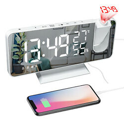 7.2quot; LED Digital Projection Alarm Clock FM Radio Snooze Dimmer Ceiling Projector