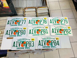 8 Florida License Plates Sunshine State Consecutive Numbers As Pictures Expired