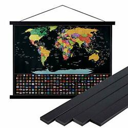 2x82x62x24 Black Poster Frame2 inch Wide Magnetic Poster Hanger for Any 12quot; 1