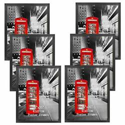 Picture Frame Sets of 6 Black Poster Frames 16 by 20 Inch for Wall 16x20