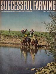 Successful Farming Magazine Vintage July 1947 Rural Country Horses Cattle Old