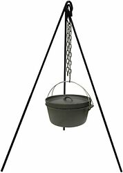 Combo Cast Iron Camping Tripod Pot And Pot Campfire Cooking Picnic Fire Oven Grill