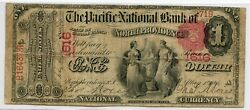Fr. 383 1875 1 Ch 1616 National Bank Note North Providence Rhode Island Fine