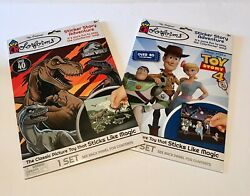 + Lot O 2 Colorforms Sticker Story Adventure Toy Story 4 + Jurassic World + New