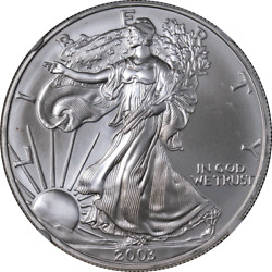 2003 Silver American Eagle 1 Ngc Ms70 Brown Label - Stock