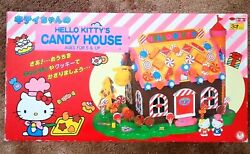 Hello Kitty Candy House, Candy Village. Vintage Toy W/ Figurines And Furniture.