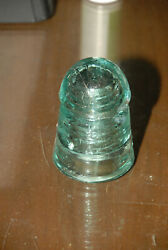 New England Telegraph And Telephone Heavy Glass Power Line Cap Clear Insulator