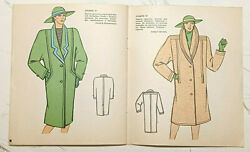 1985 Vintage Fashion Catalog Sewing Patterns Magazine Booklet Book For Women