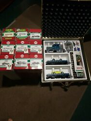 Limited Edition Lgb 72520 Auto Transport Train Set With Red Trunk With 9 Extras