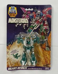 1986 Tonka Gobots Heart Attack Body Monsterous Figure Carded Sealed