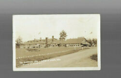 Old Postcard Rp Gateway Inn Land O Lakes Wisconsin 1930s Signs Gas Pumps Cars