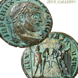 Maxentius Dioscuri With Horses Ostia Italy Mint Xf Large Ancient Follis Coin