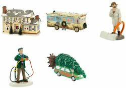 Dept 56 Christmas Vacation Set/5 Griswold House, Tree, Dad, Cousin Eddie, Rv,