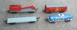 Lot Of 4 N Scale Lone Star Treble-o-lectric Freight Train Cars
