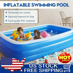 Inflatable Swimming Pools Above Ground Pool Kids Pets Family Outdoor 2.6m Sale