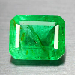 2.84ct 9.5x7.6mm Vs Octagon Unheated Green Natural Emerald Colombia