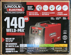 Lincoln Electric Mig Flux 140hd Wire Feed Welder - Black/red New Unopened