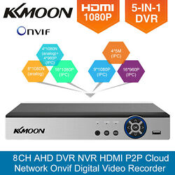 Kkmoon 8ch 1080p 5-in-1 Cctv Dvr For Security Camera System Digital Zoom A6o5