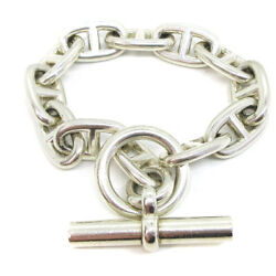 Hermes Chaine Dand039ancre Gm Silver 925 Charm Bracelet Silver Accessories 82985