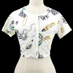 96p Pattern 36 Cc Icon Short Sleeve Tops White Authentic 82946
