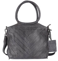 Latico Leathers Dalton Charcoal Authentic Leather Handcrafted Handbag Tote