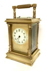 Antique Brass Strike Repeater Repeating Carriage Clock Striking On Gong
