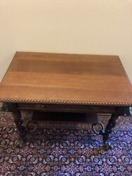"""Antique Table . Measures Approx. 25"""" X 37"""". Height 30"""""""