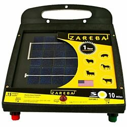 10-mile Solar Low Impedance Electric Fence Fence Charger