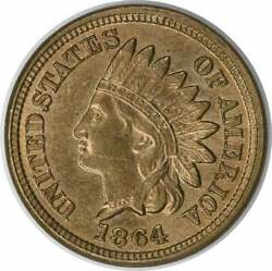 1864 Indian Cent Copper Nickel Choice Bu Uncertified 237