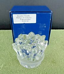 Cristal De Sevres France Crystal Glass Statue Of Liberty Torch Paperweight W Box