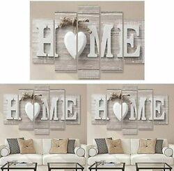 5Pcs Unframed Modern Canvas Wall Art Painting Print Picture Home Room Decor