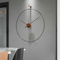 Large Wall Clock Round Modern Design For Living Room Indoor Outdoor 100% GENUINE