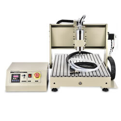 Usb Port 4 Axis Cnc 6040z Router Engraving Wood Drill/milling Machine 1.5kw Vfd
