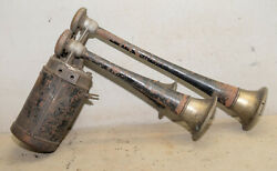 Antique Spartan Chime 1930and039s Rat Rod 3 Trumpet Brass Collectible Automobile Horn