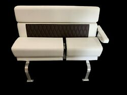 Monterey Boats 378ss Stbd Helm Bench Captains Chair Seat White / Brown 46373-19