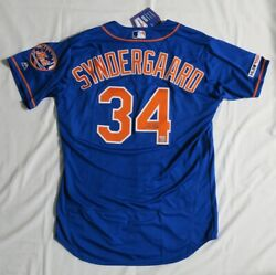 Noah Syndergaard Signed Authentic Blue Majestic Ny Mets Jersey Fanatics Mlb