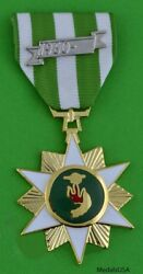 Anodized Republic Of Vietnam Campaign Medal Vcm Full Size Bright Metal