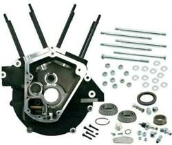 Sandamps Cycle Black Big Bore Super Stock Engine Case For 1992-1999 Harley