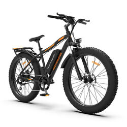 Aostirmotor Electric Bicycle 750w 26 Fat Tire Ebike With 48v/13a Li-battery