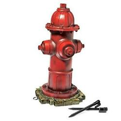 - Dog Fire Hydrant Garden Statue With 2 Stakes, 14 Inches Small