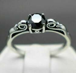 3 Ct Black Diamond Ring In Sterling Silver Good Design For Birthday Gifts