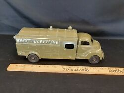1950and039s Hubley Bell Telephone Truck Diecast Toy 12 No 504