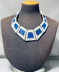 One Of The Best Native American Lapis Sterling Silver Necklace
