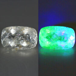 Stunning 4.43ct 14.3x9.3mm Vs Cushion Unheated Natural Hyalite Opal, Mexican